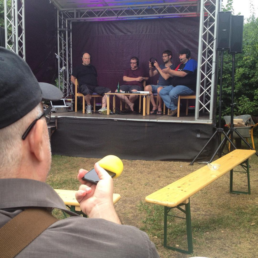Smartphone in Action auf podstock2015